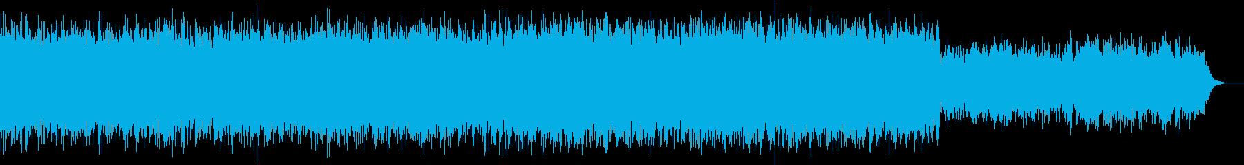 幻想的なアンビエントBGMの再生済みの波形