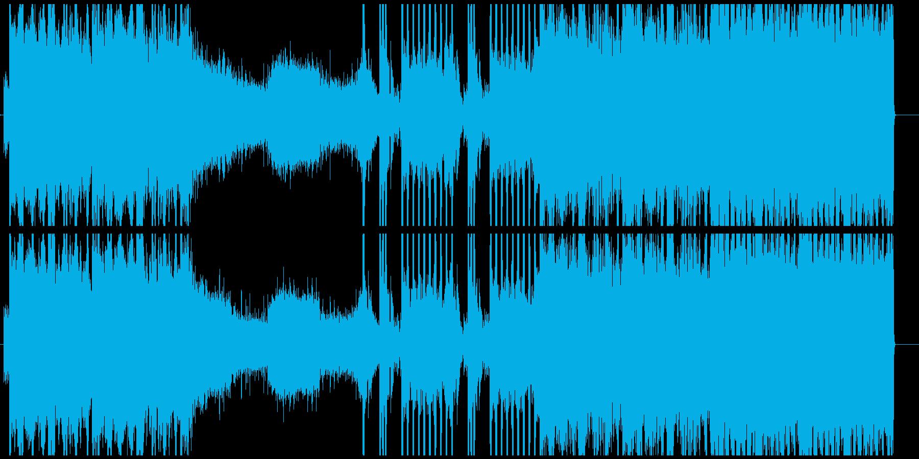 エレクトロ系のインストの再生済みの波形