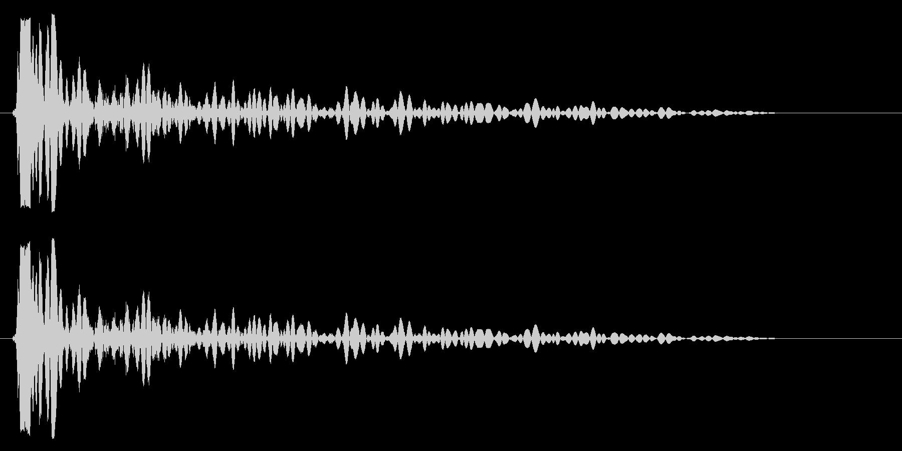 バン(高めのバスドラムの音)の未再生の波形