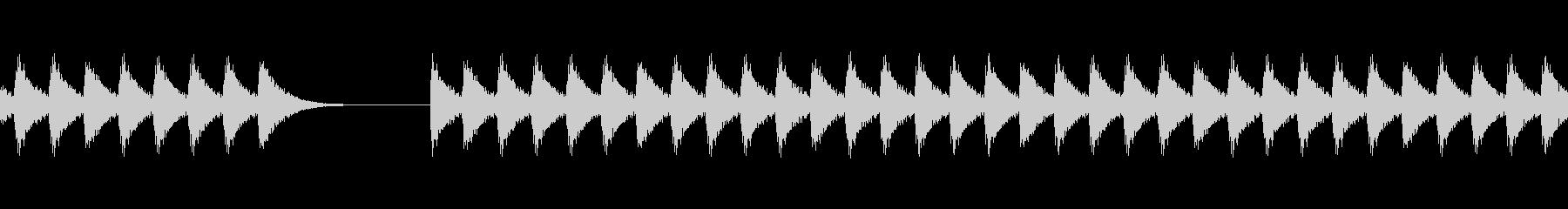 クイズで不正解(ブブー)の未再生の波形