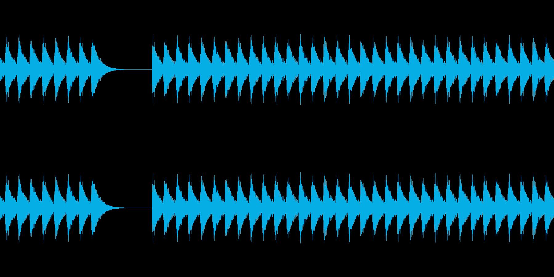 クイズで不正解(ブブー)の再生済みの波形