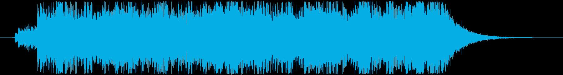 幻想的シーン用オーケストラジングルの再生済みの波形