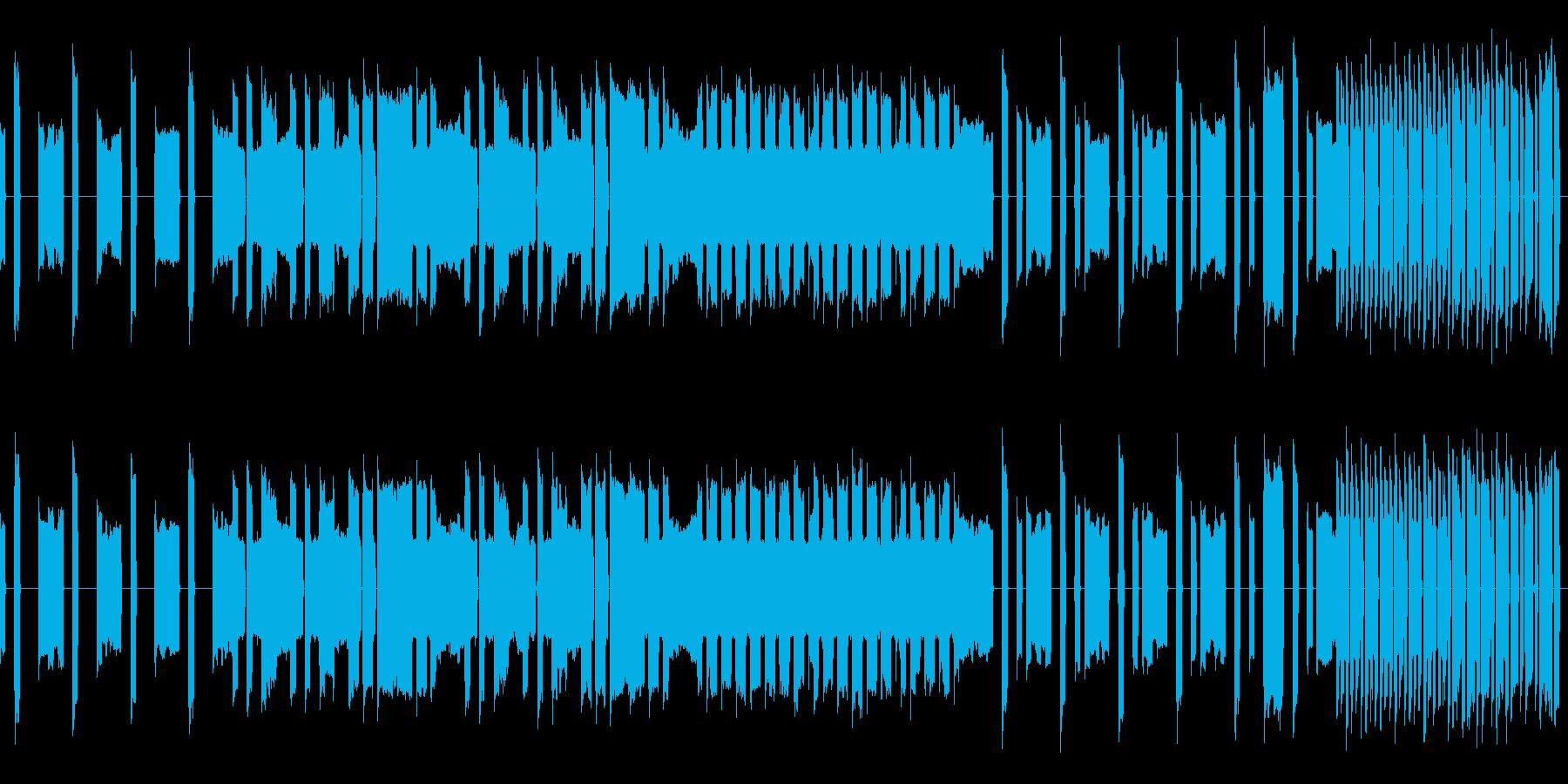 【ループ仕様】脱力系のチープな曲の再生済みの波形