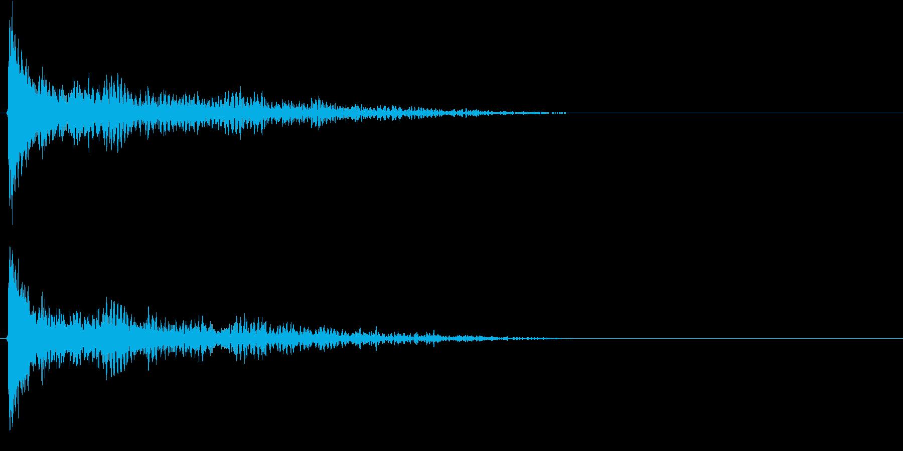 コッの再生済みの波形