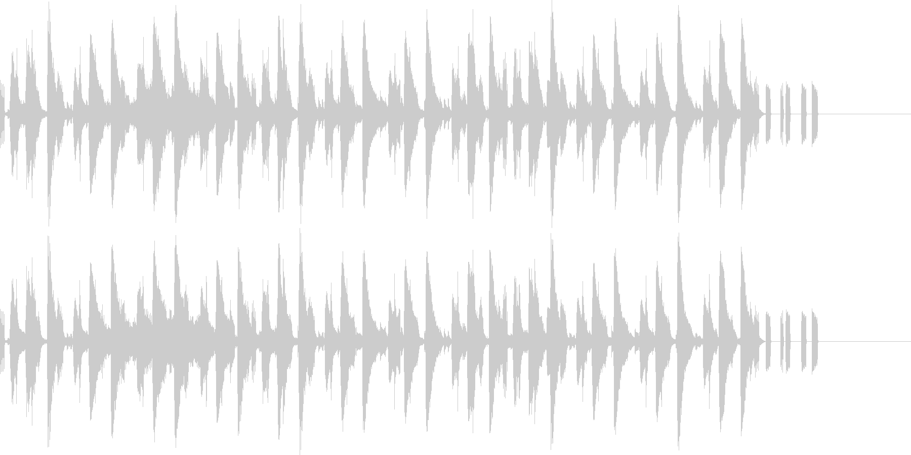 テクノなBGMの未再生の波形