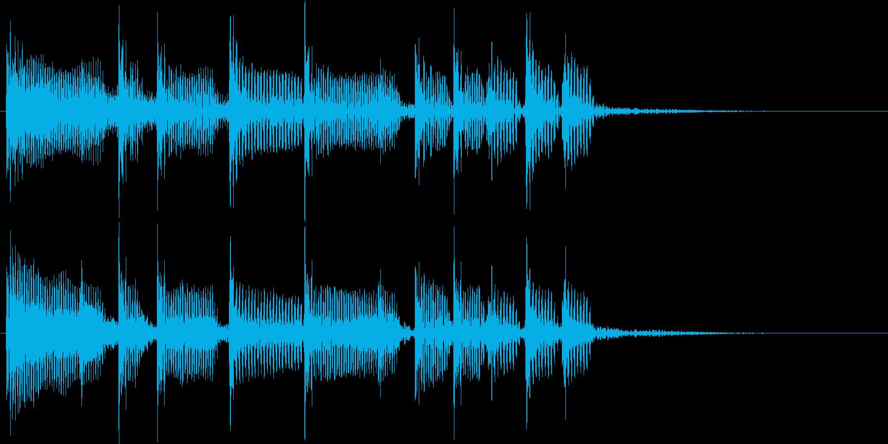 2小節ジングル05 オールディーズ1の再生済みの波形