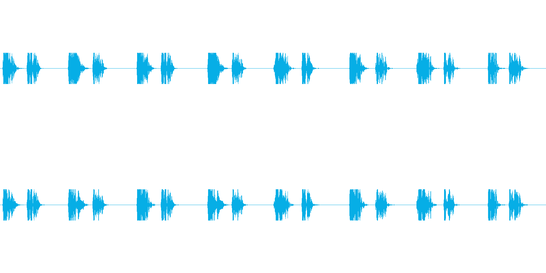 【心拍01-2L】の再生済みの波形