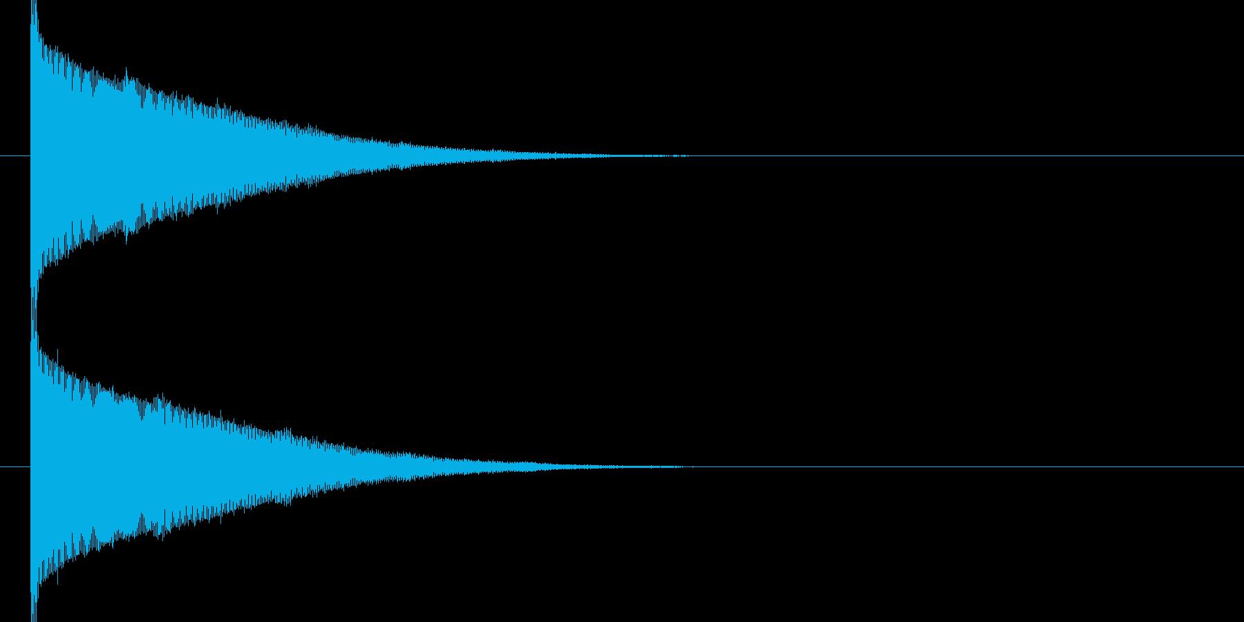 ブーーン(魔法、ビーム音)の再生済みの波形