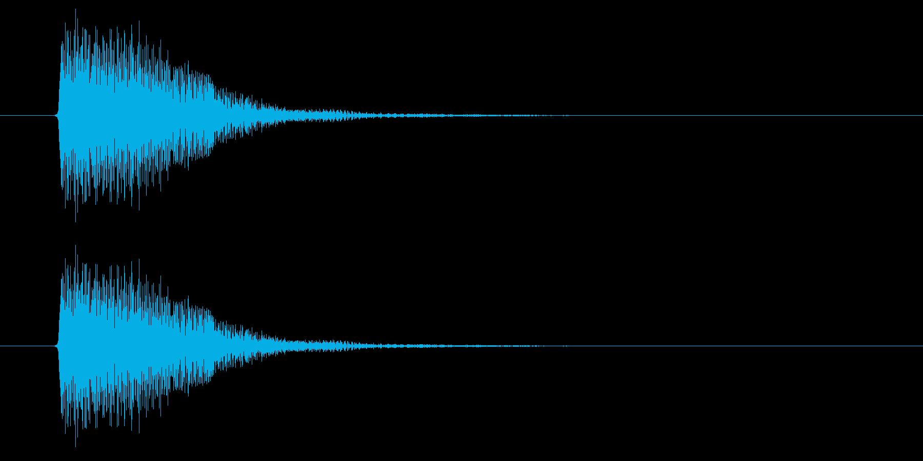 衝撃やショックがあった時の音の再生済みの波形