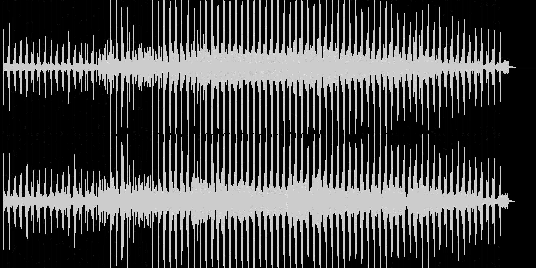 警戒心、ミステリーなテクノ系BGMの未再生の波形