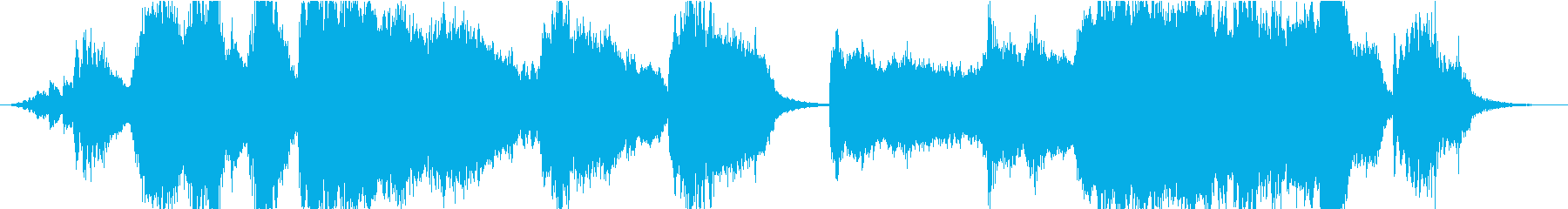 ホラー サスペンス系の不穏なアンビエントの再生済みの波形