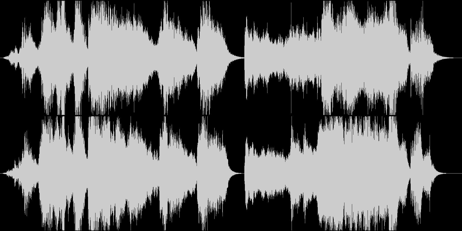 ホラー サスペンス系の不穏なアンビエントの未再生の波形