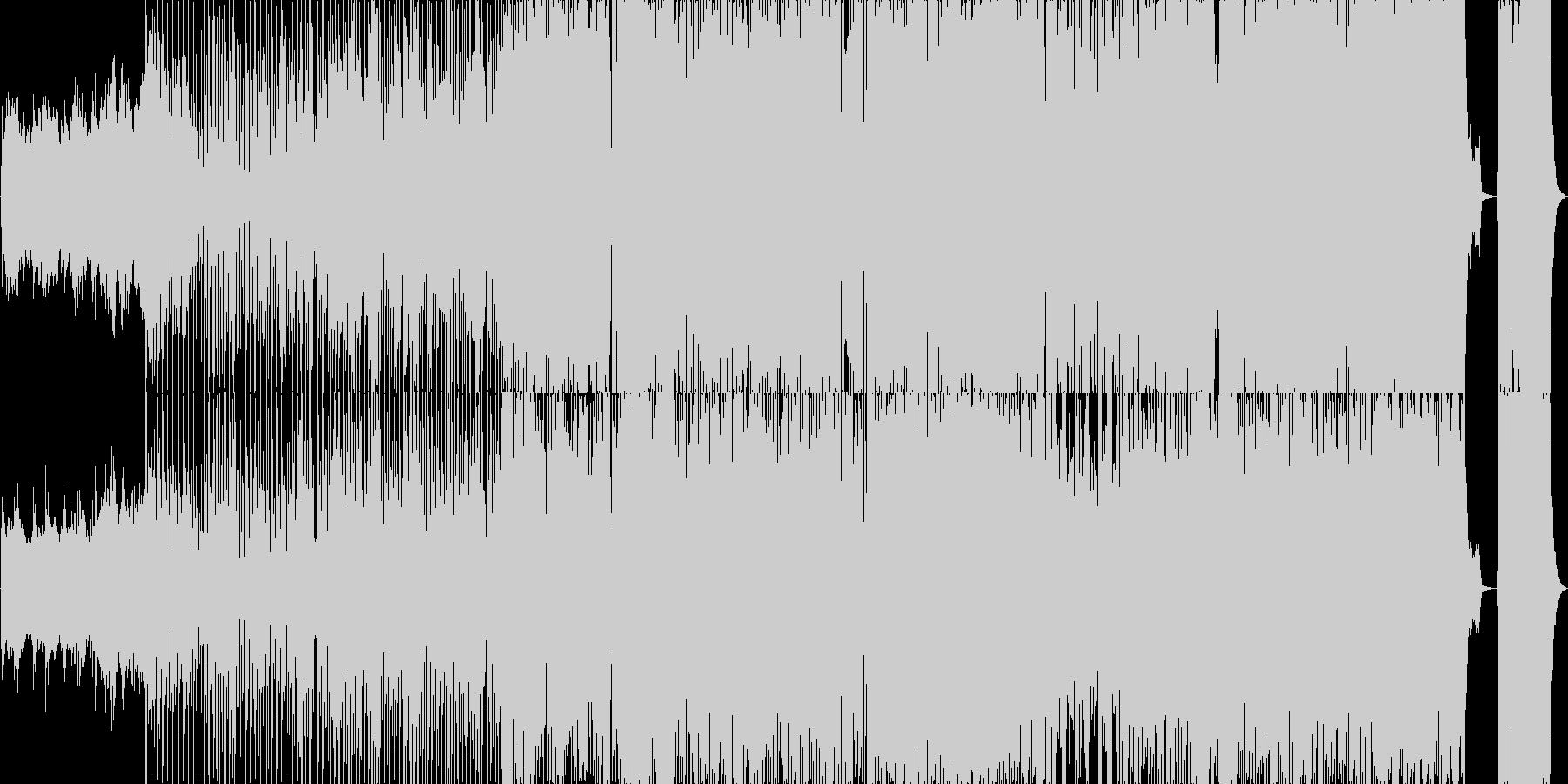 古風でラグタイム風の愉快な居酒屋風BGMの未再生の波形