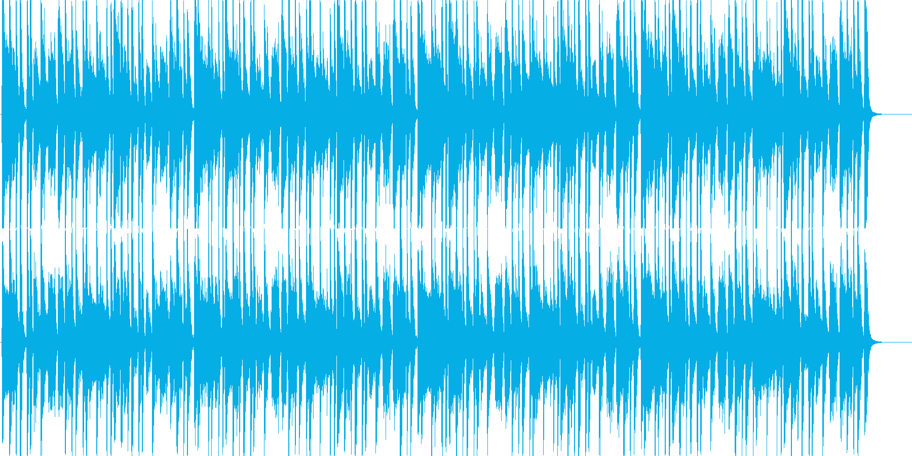 Dr,Bs,EPのスタジオセッション風の再生済みの波形