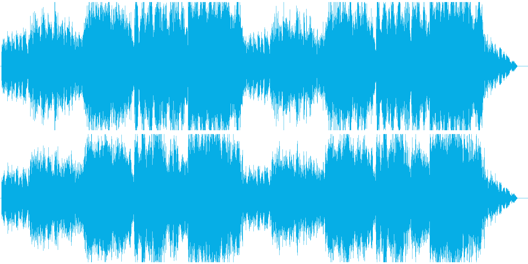 朝の登校風景の様なさわやかなBGMの再生済みの波形