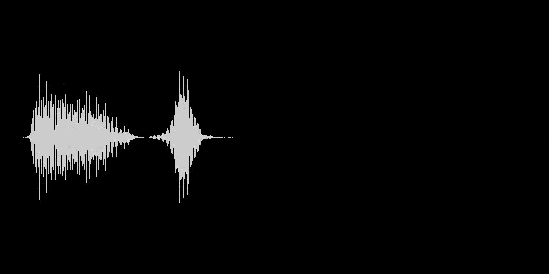 パフパフラッパ4単発 パフッの未再生の波形