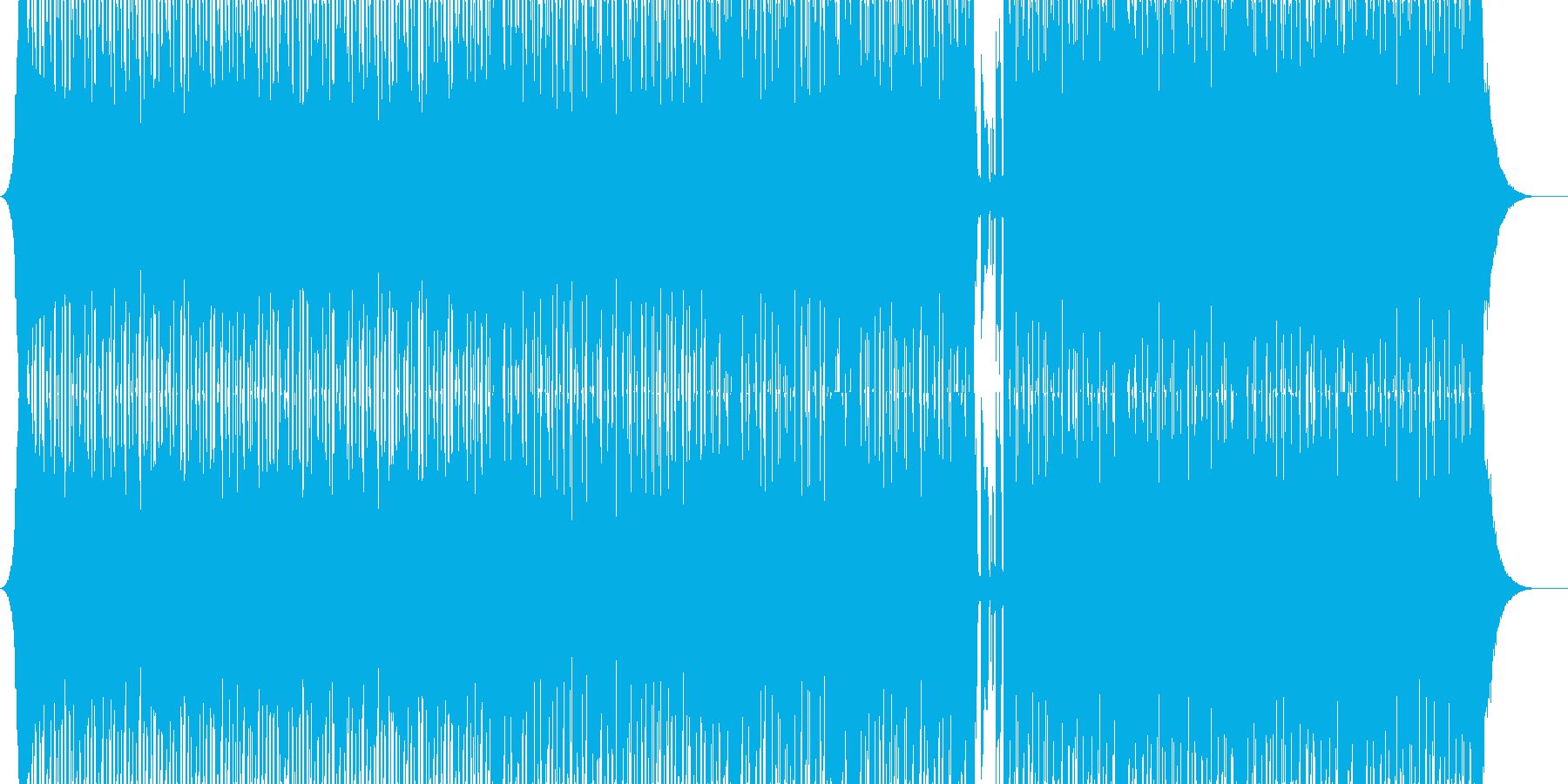 【ハウス】軽快でノリノリなハウスの再生済みの波形