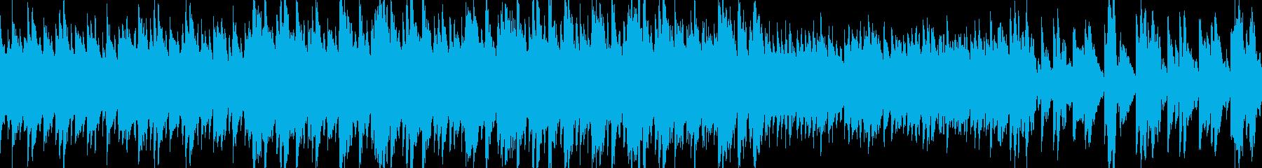 優しい音のポップで愉快なループBGMの再生済みの波形