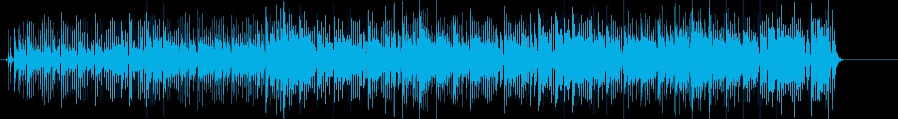 陽気で軽快な南国風ラテンBGMの再生済みの波形
