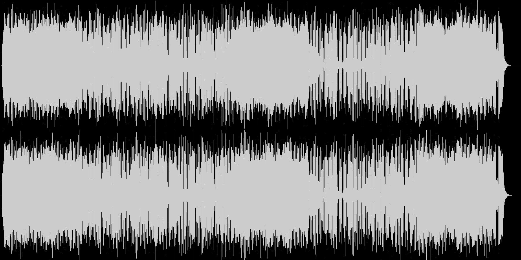 スッキリした明るいシンセサイザーの曲の未再生の波形