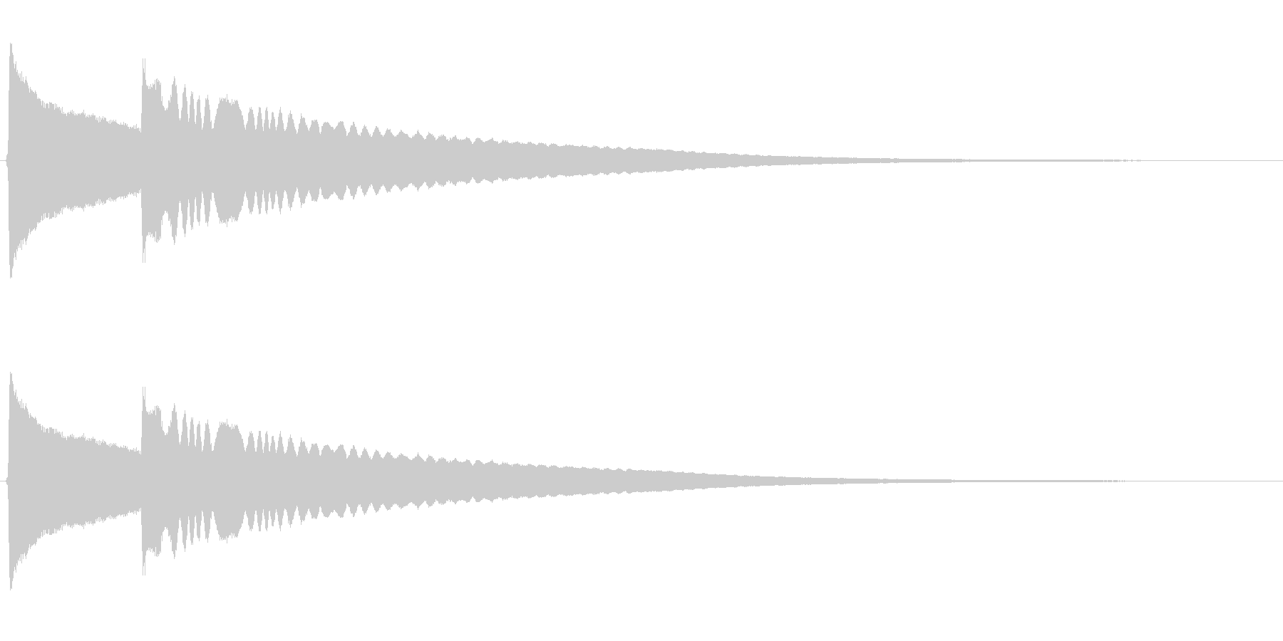 リンリーン(風鈴の音)高音の未再生の波形
