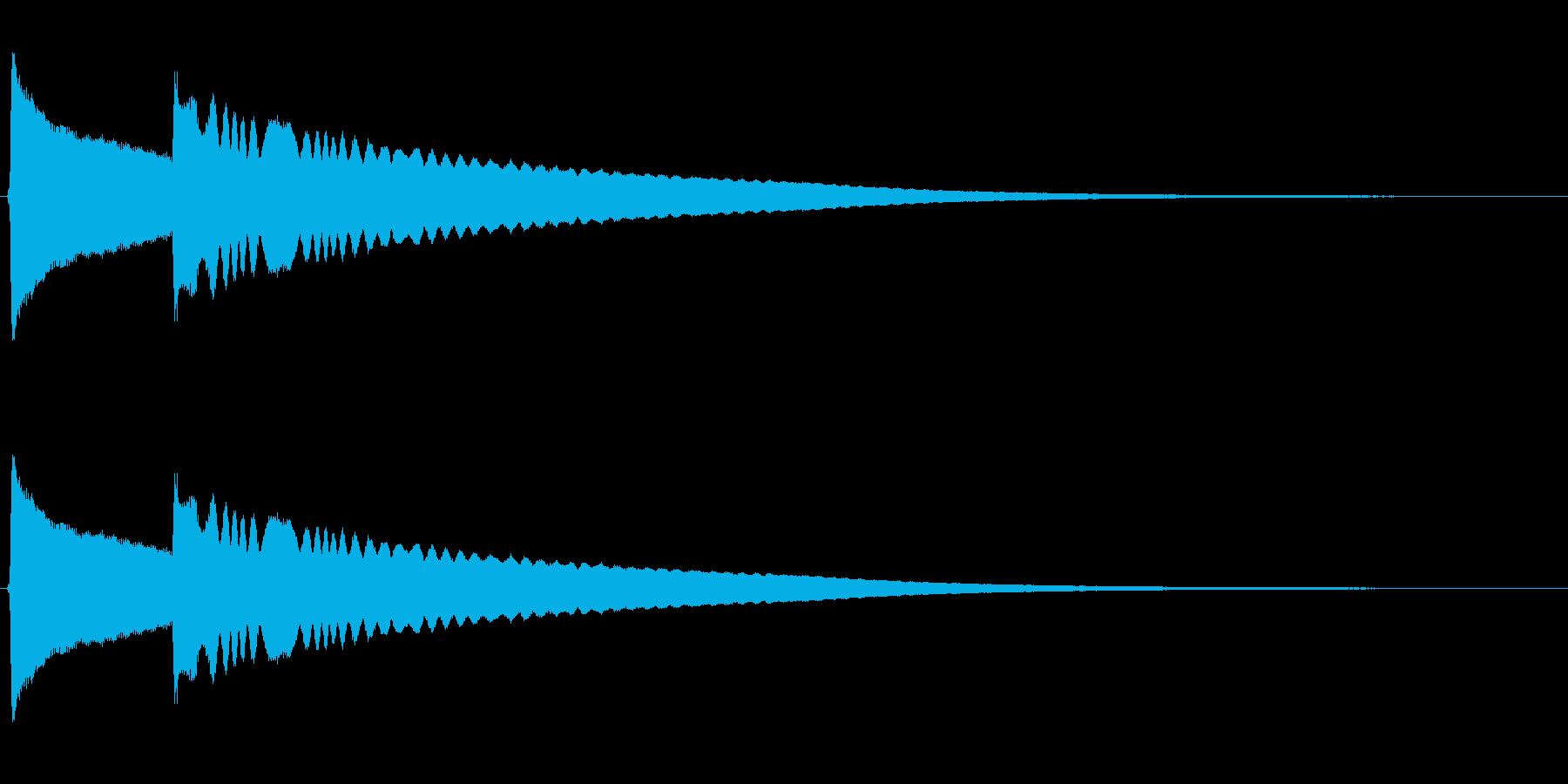 リンリーン(風鈴の音)高音の再生済みの波形