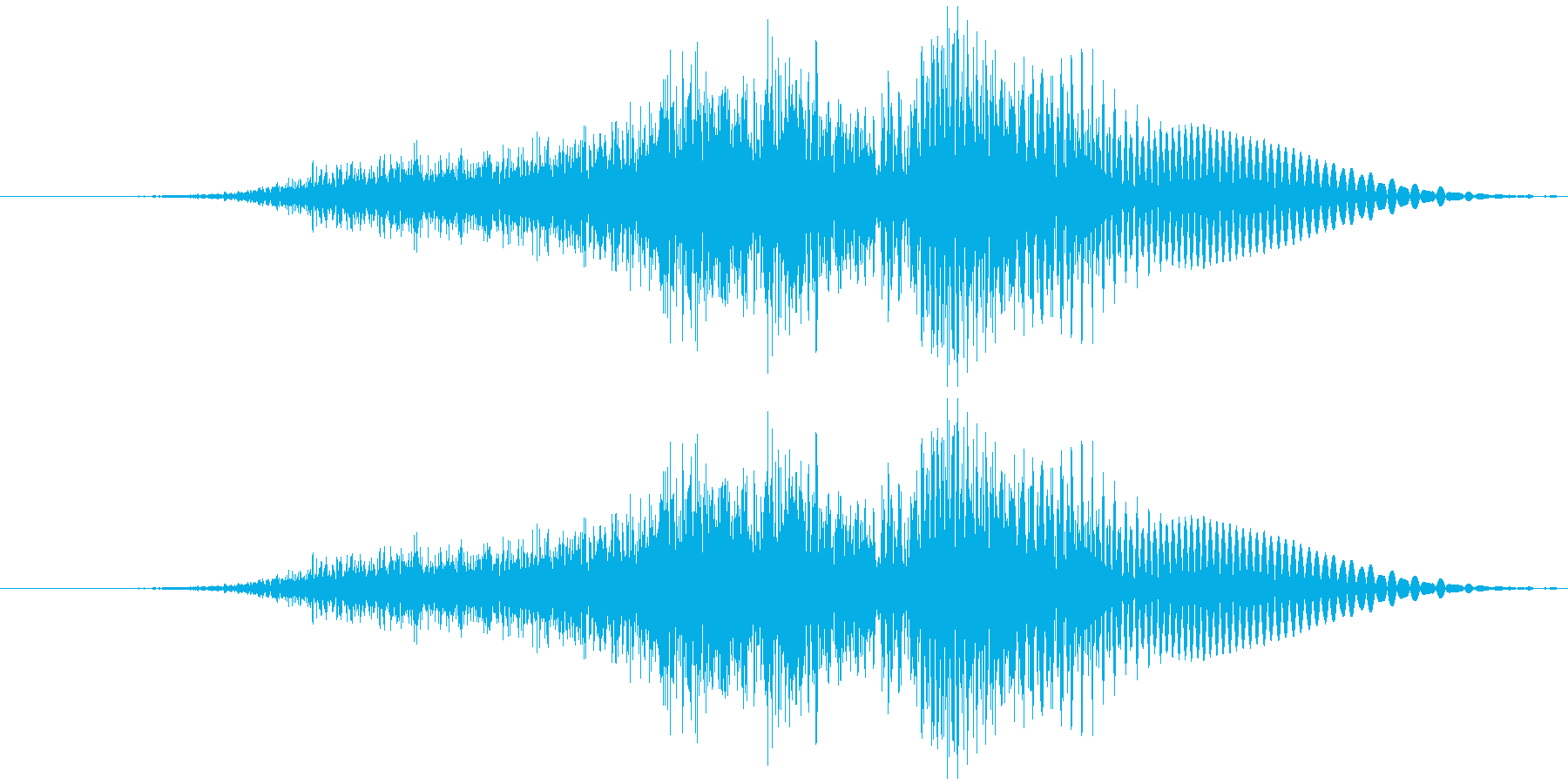 「さん(3)」渋い男性の声の再生済みの波形