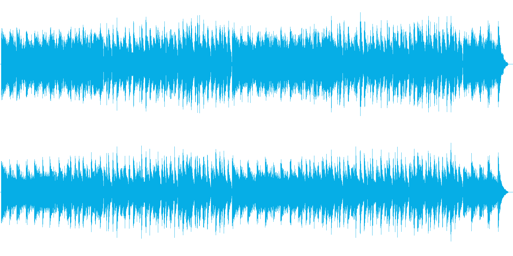 切ないロマンチックなシンセサイザー曲の再生済みの波形