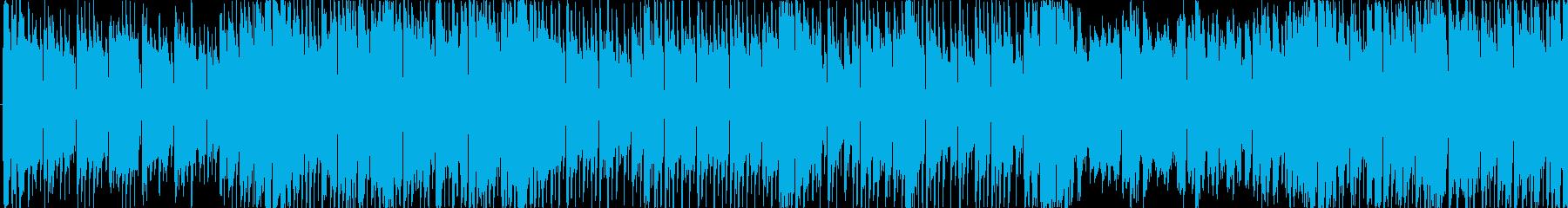 バトル競争レースなどのBGM_LOOPの再生済みの波形