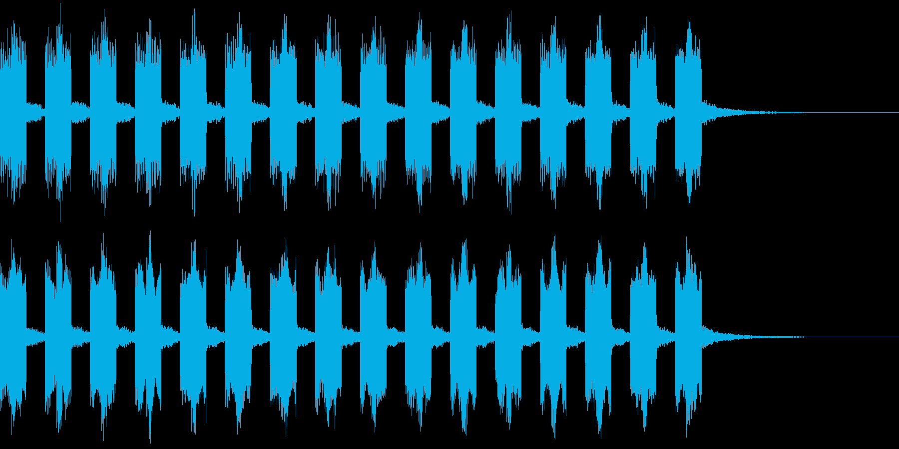 避難 サイレン 災害 警告 危険の再生済みの波形