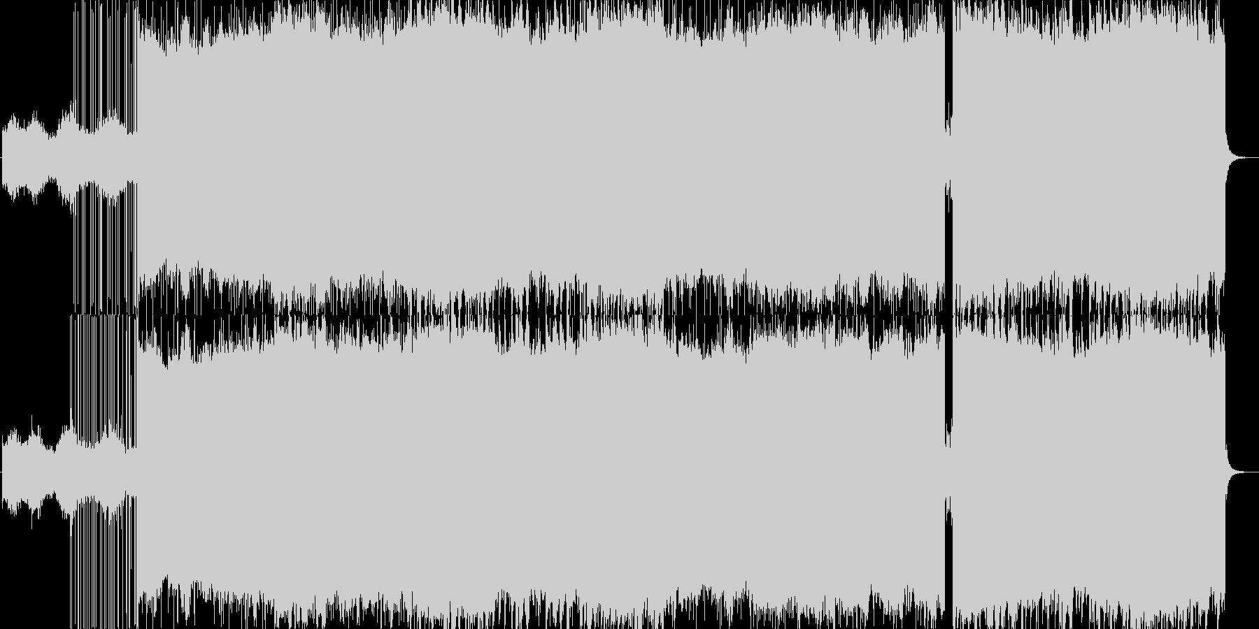 心がリラックスする優しい電子音楽の未再生の波形