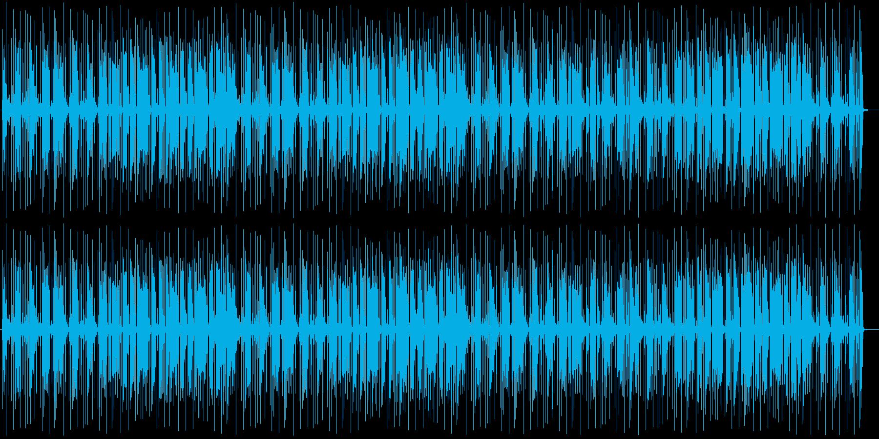静かで暗い印象のドラムミュージックの再生済みの波形