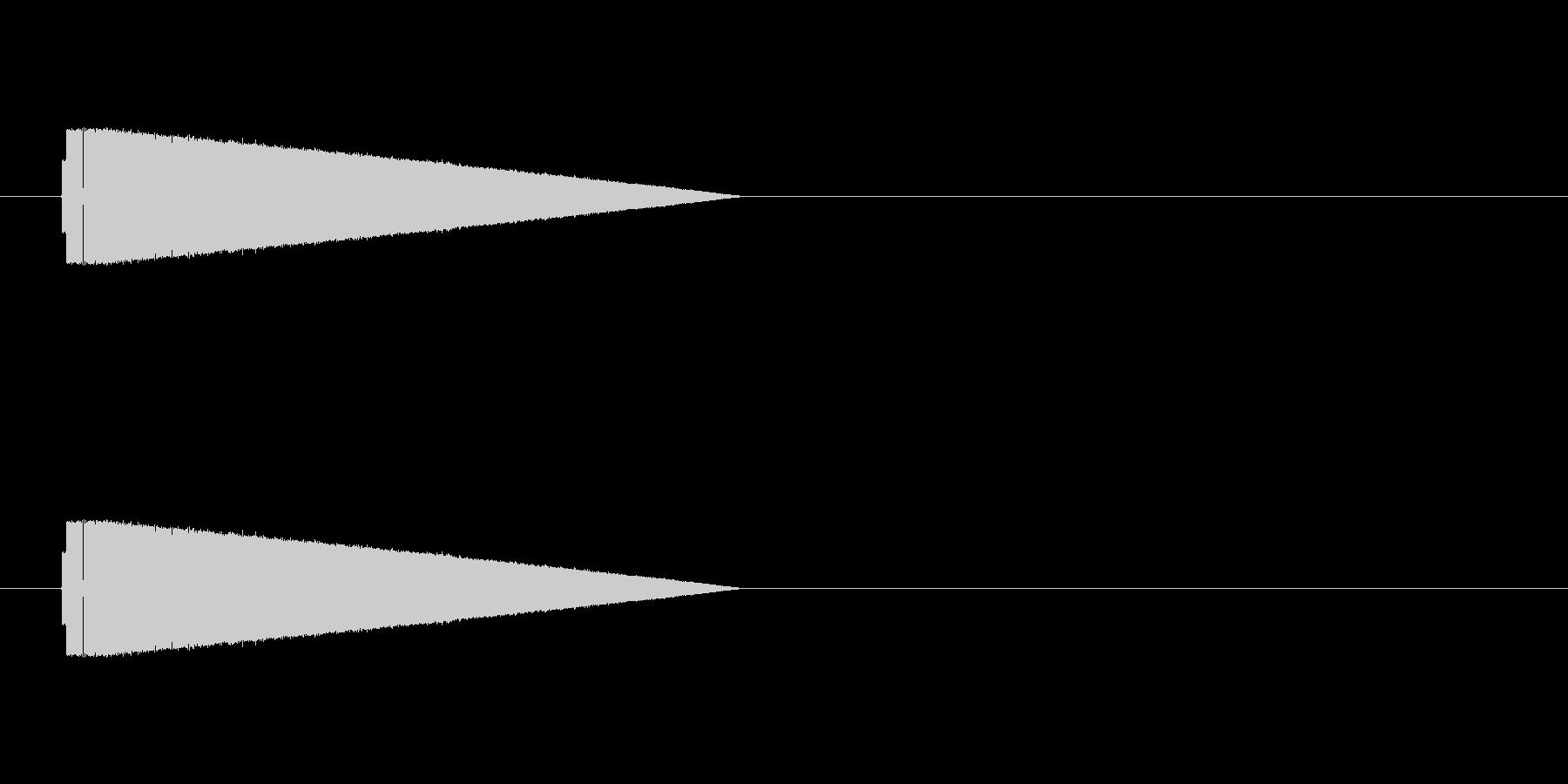 ファミコン風パワーアップ的な音ですの未再生の波形