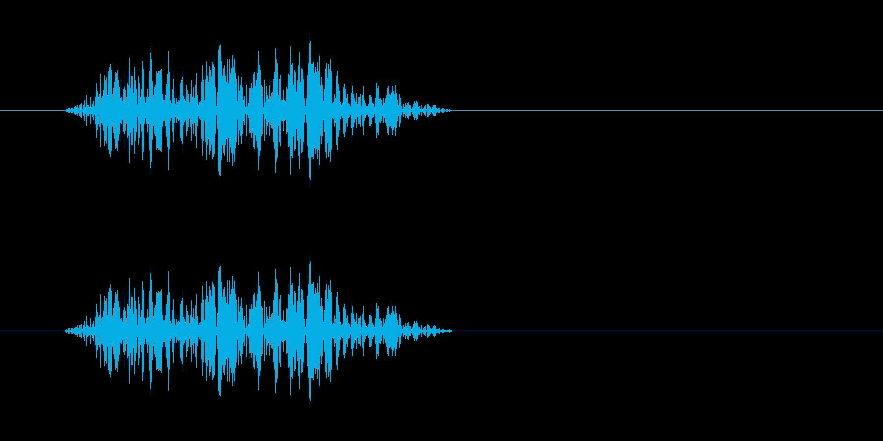 バツッ(ジャックを抜き挿しした際の雑音)の再生済みの波形