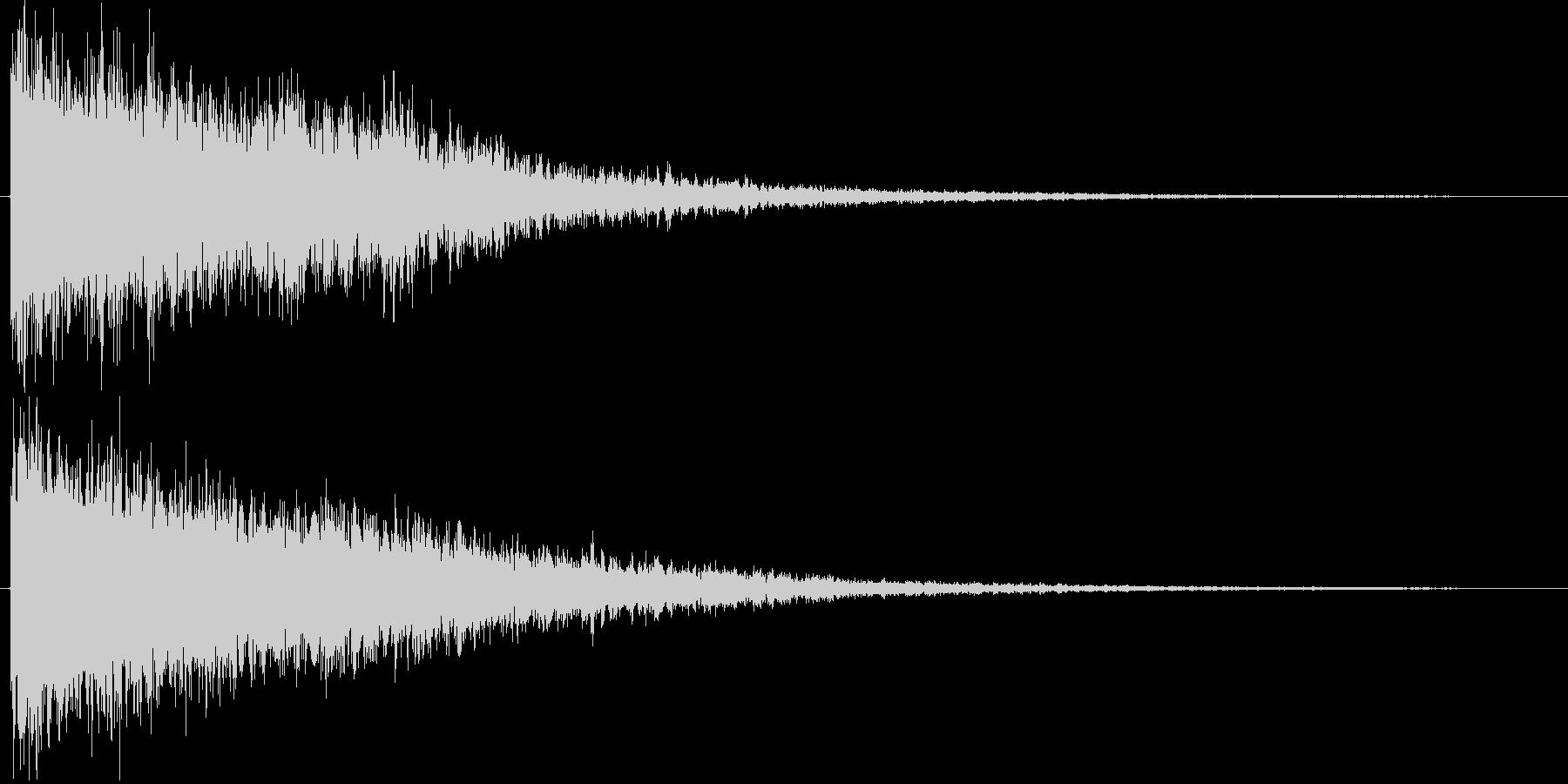 ドーン(SF的な宇宙音)の未再生の波形