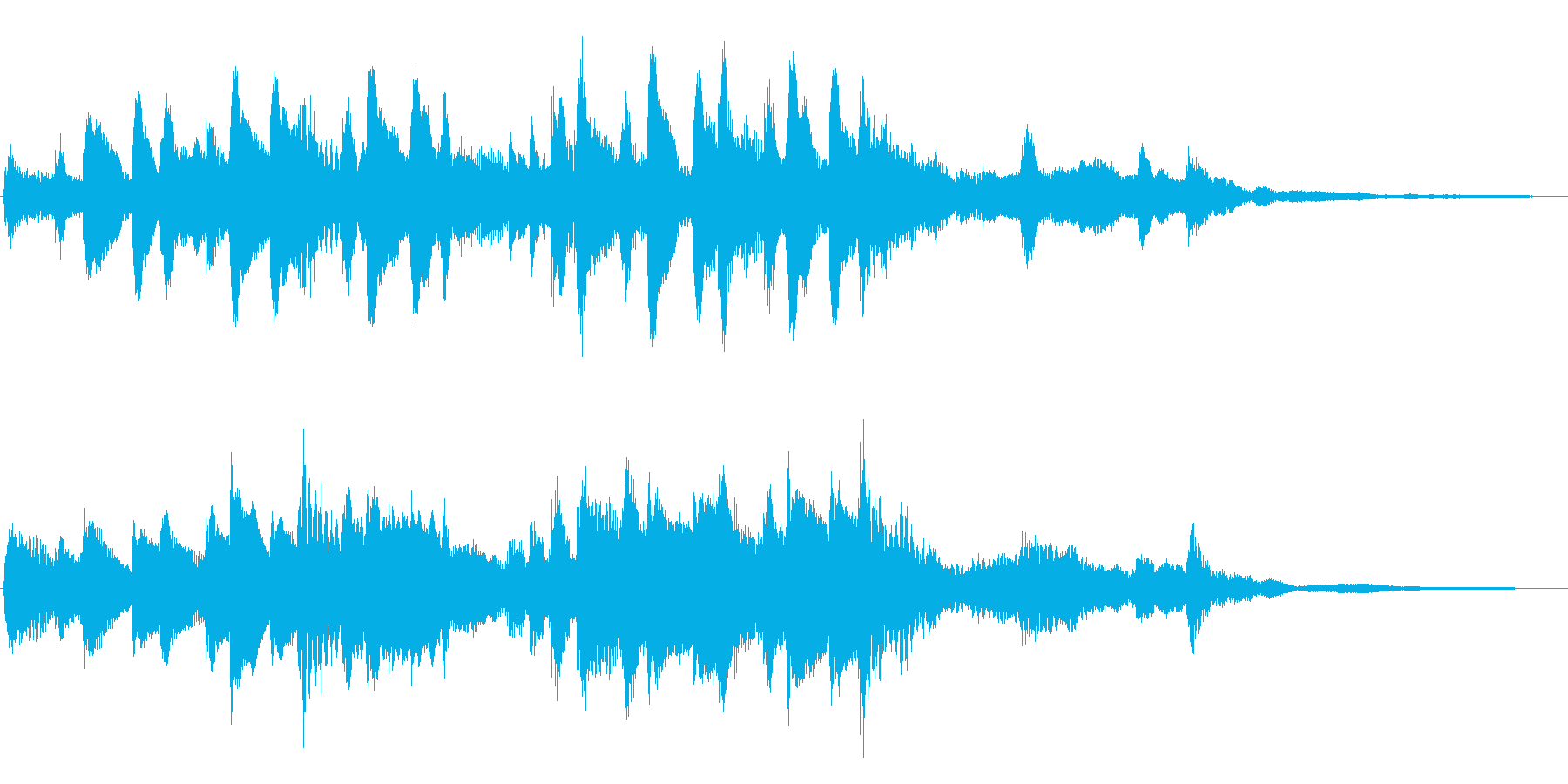 優しく可愛いリズミカルなCM向けピアノ曲の再生済みの波形