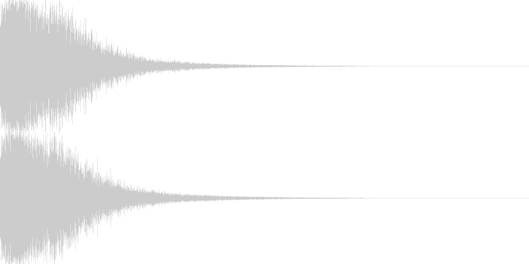 ガーン!(金属系)の未再生の波形