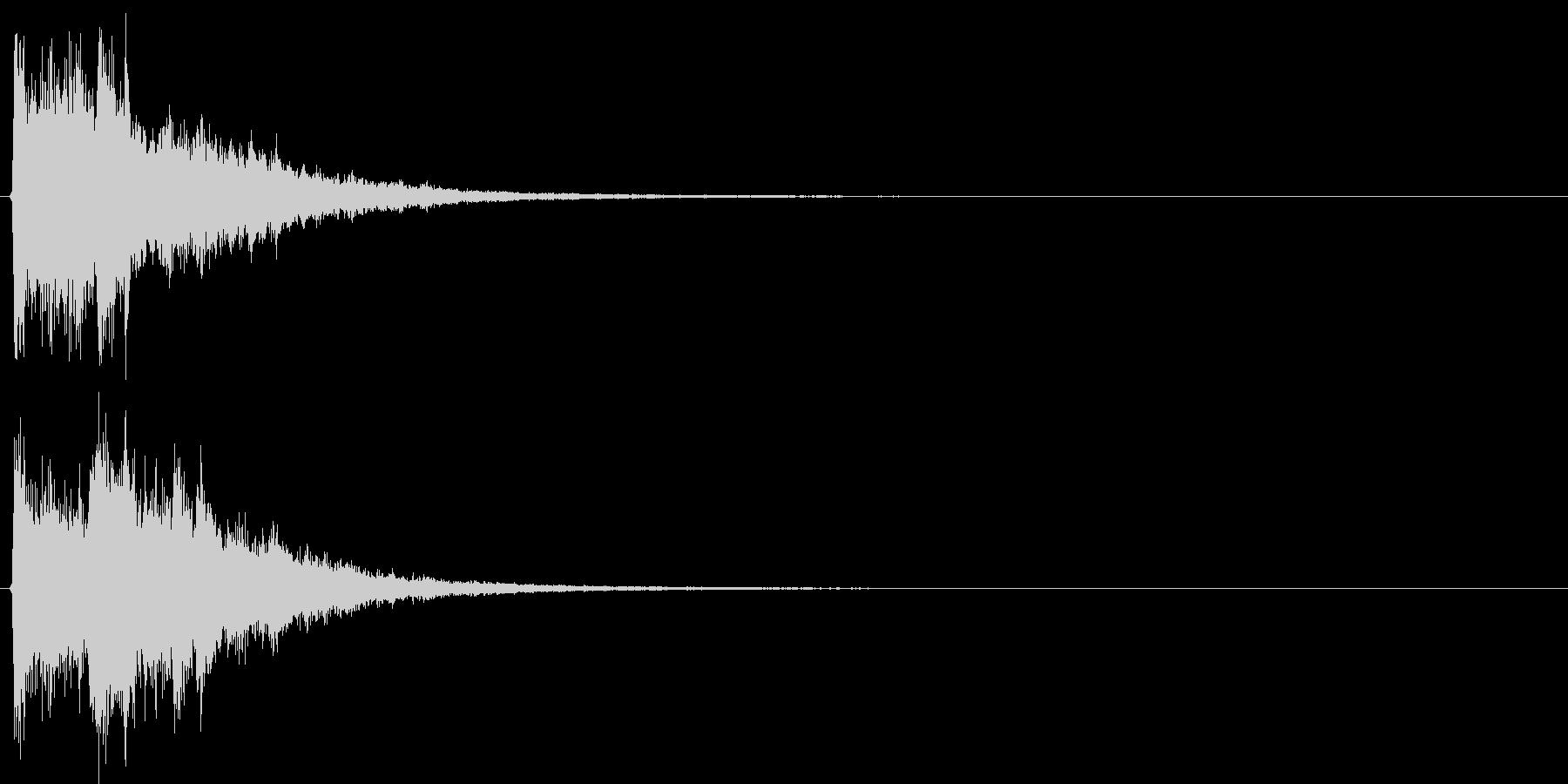 決定音・ボタン音(硬質・派手)2の未再生の波形