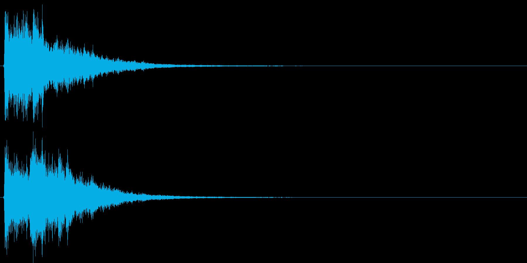 決定音・ボタン音(硬質・派手)2の再生済みの波形