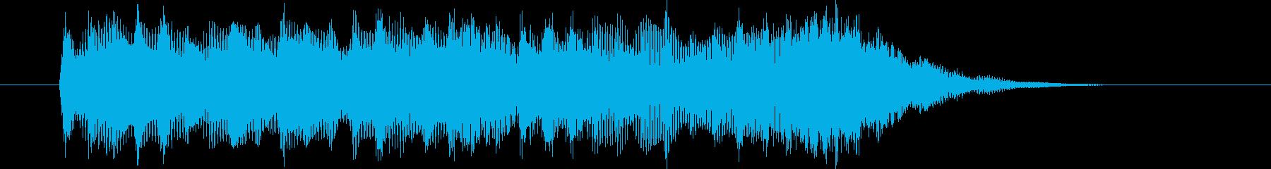 美しく爽やかなシンセサウンド短めの再生済みの波形