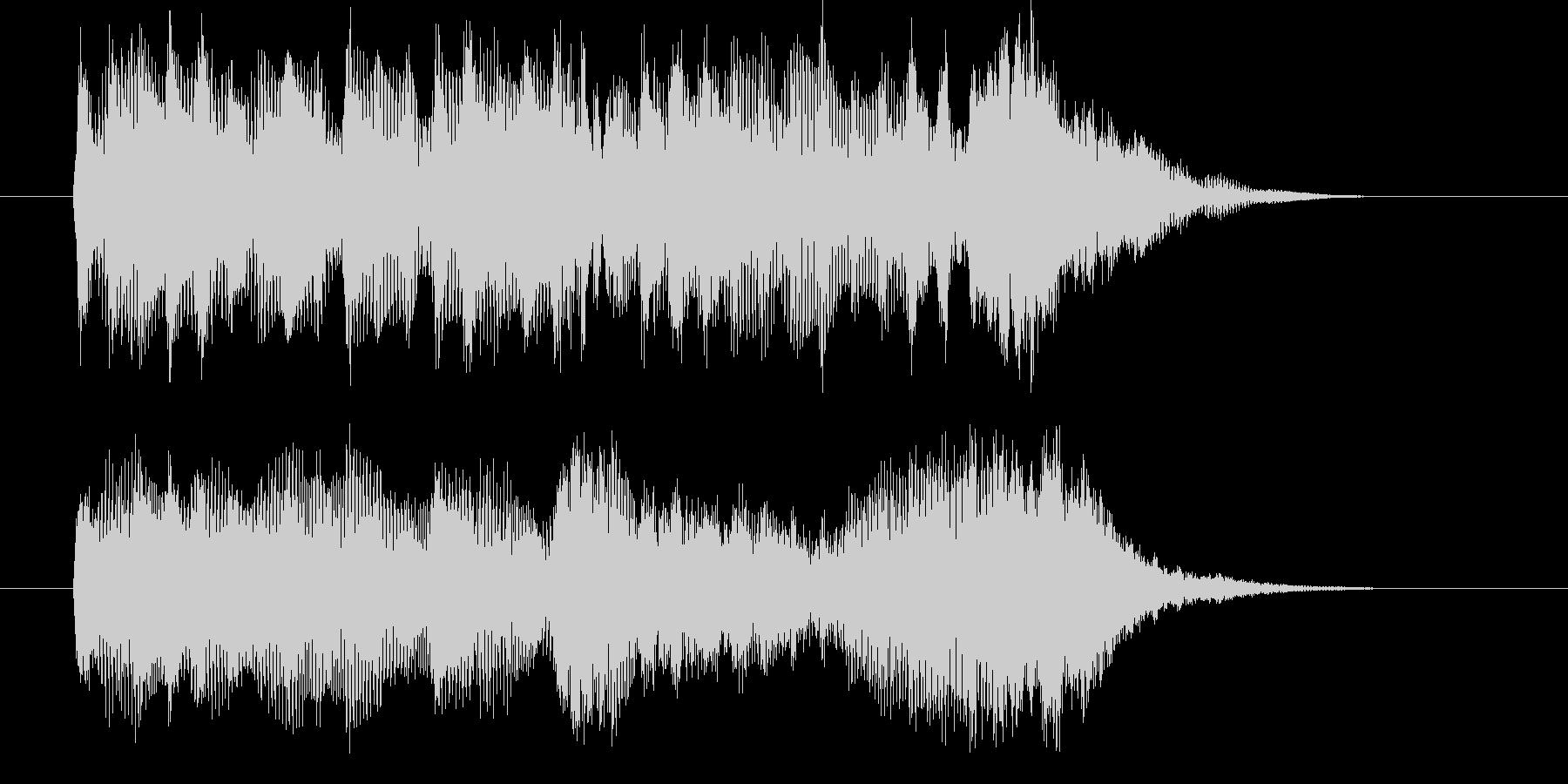 美しく爽やかなシンセサウンド短めの未再生の波形