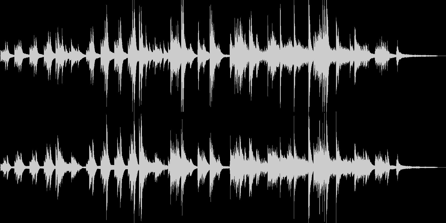 暗く怪しくサスペンス感のあるピアノ曲の未再生の波形