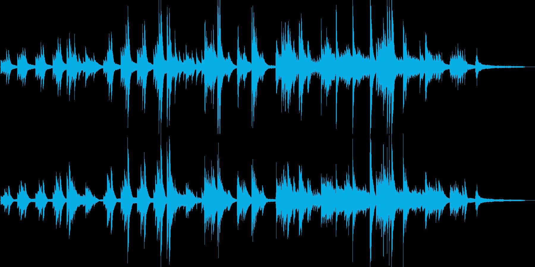 暗く怪しくサスペンス感のあるピアノ曲の再生済みの波形