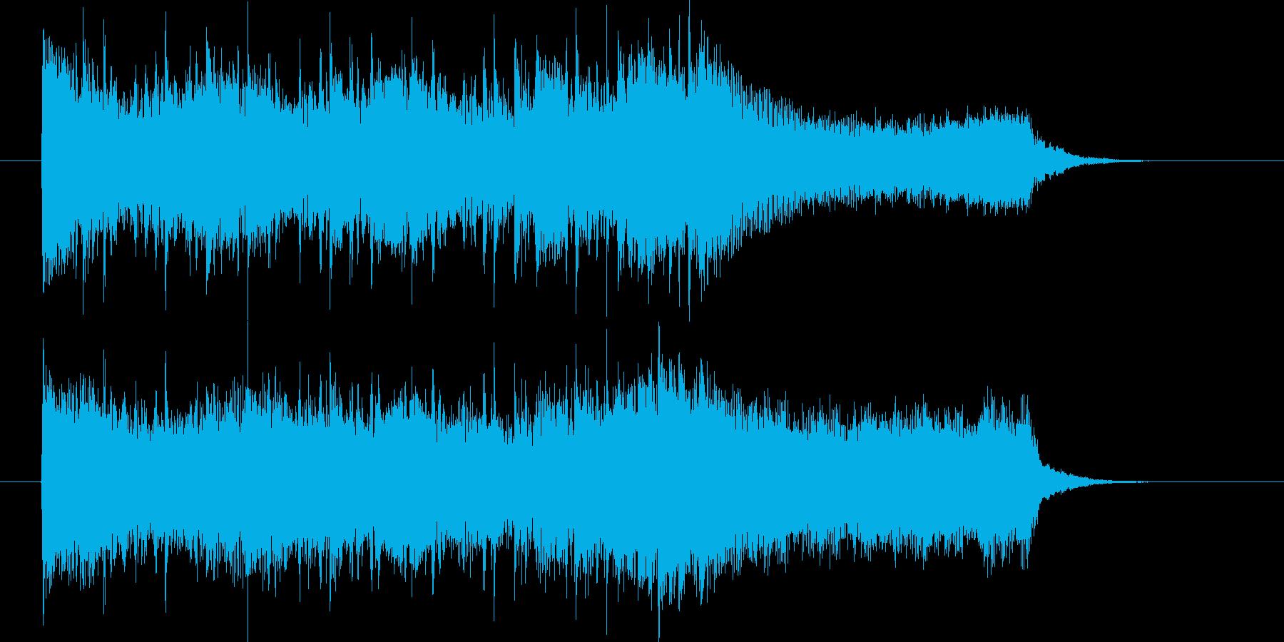 疾走感のあるロックミュージックの再生済みの波形