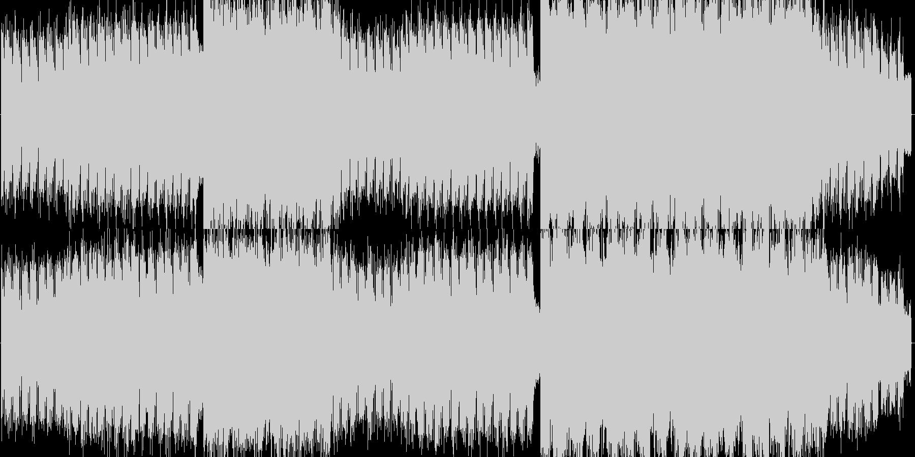 ギターのリードが印象的なデジタルロックの未再生の波形