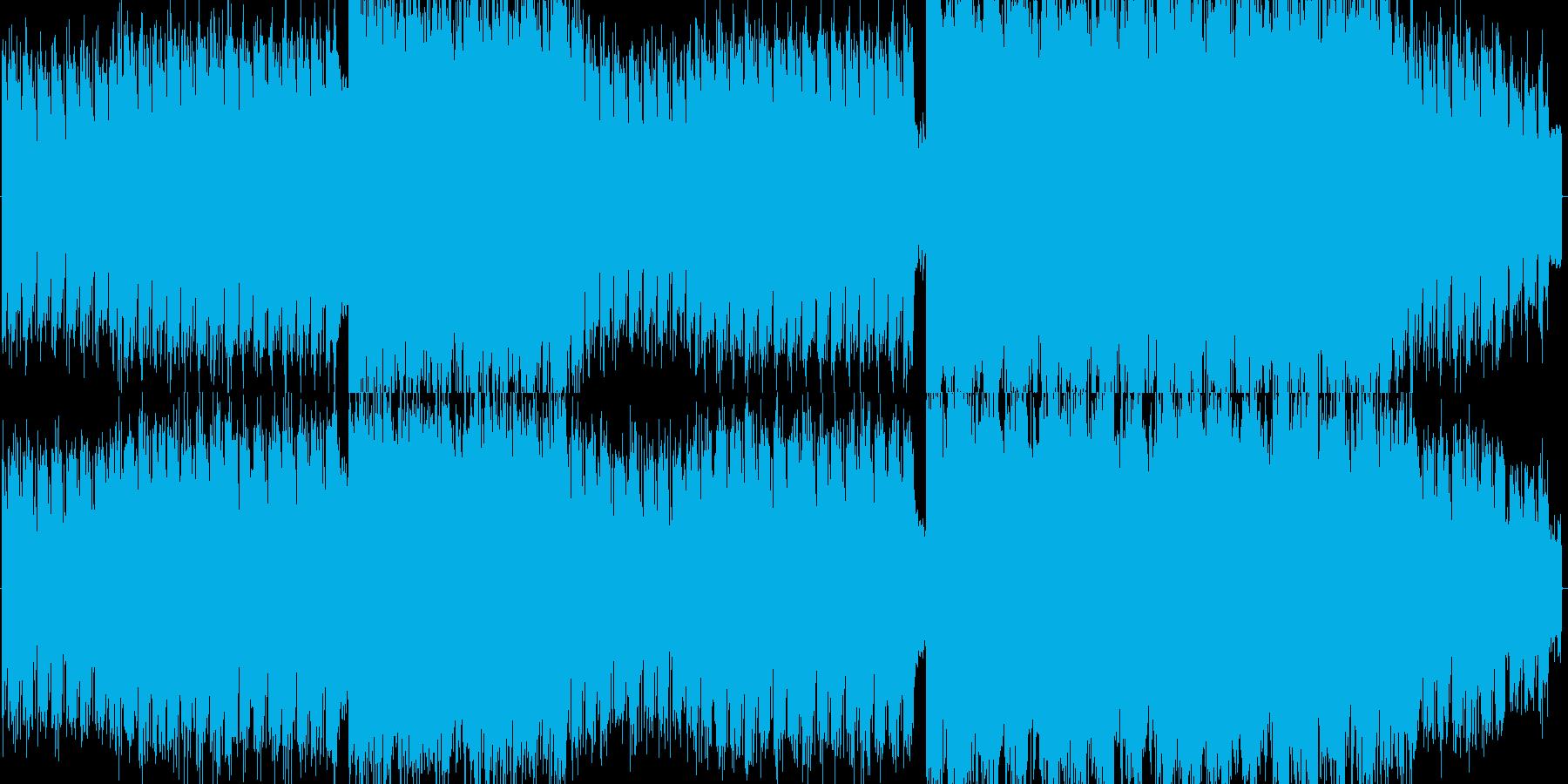 ギターのリードが印象的なデジタルロックの再生済みの波形