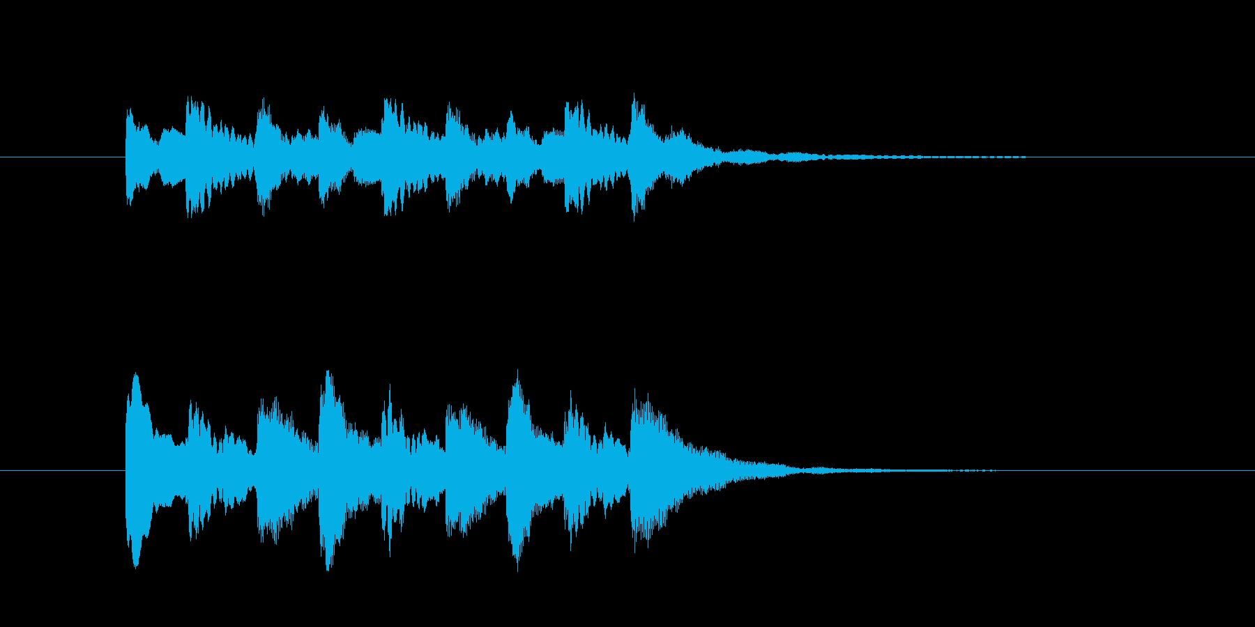 テレレテレレテレレ(警音・注目・エラー)の再生済みの波形