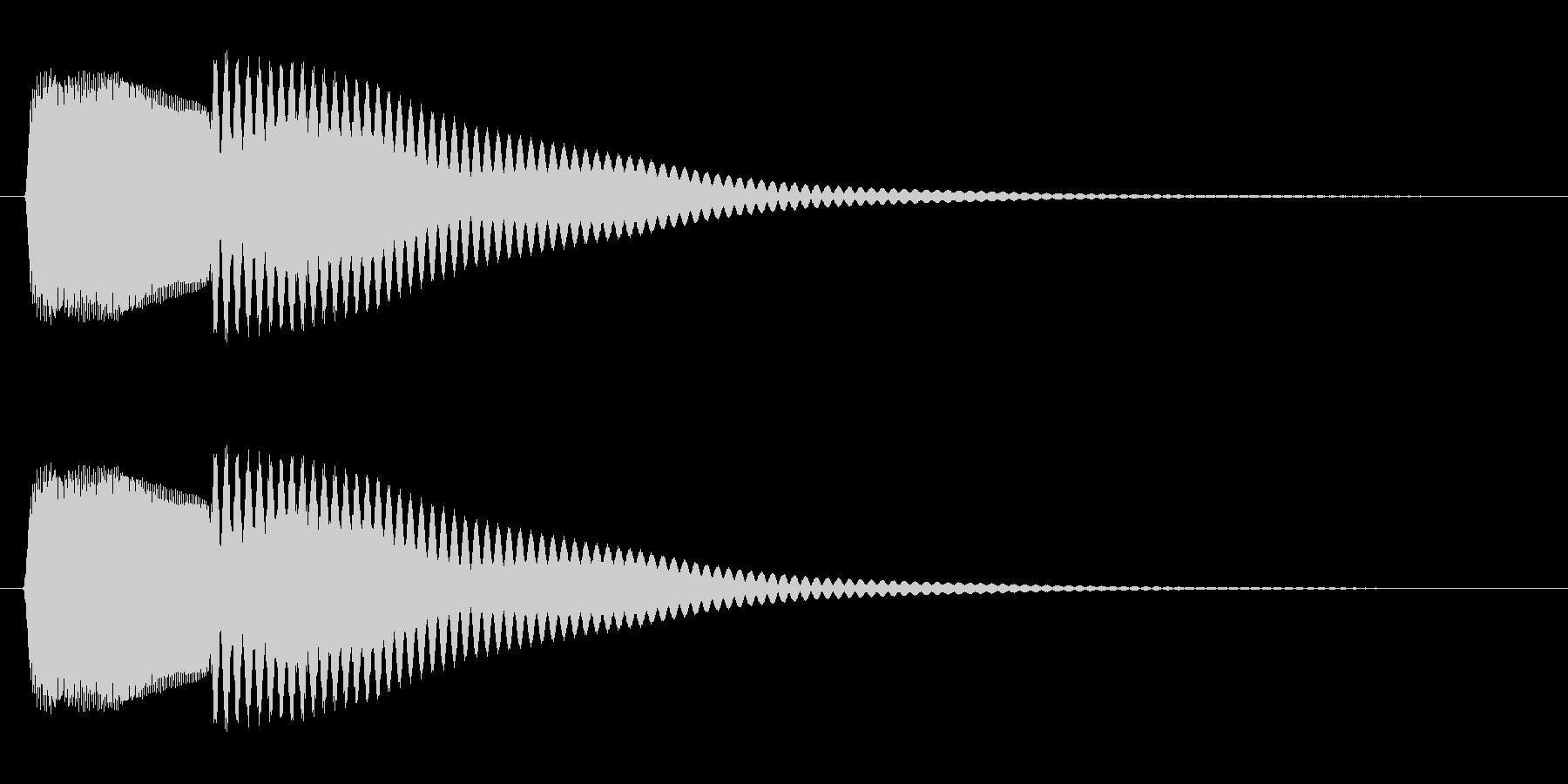 コカ〜ン(可愛らしいシステム向けの音)の未再生の波形