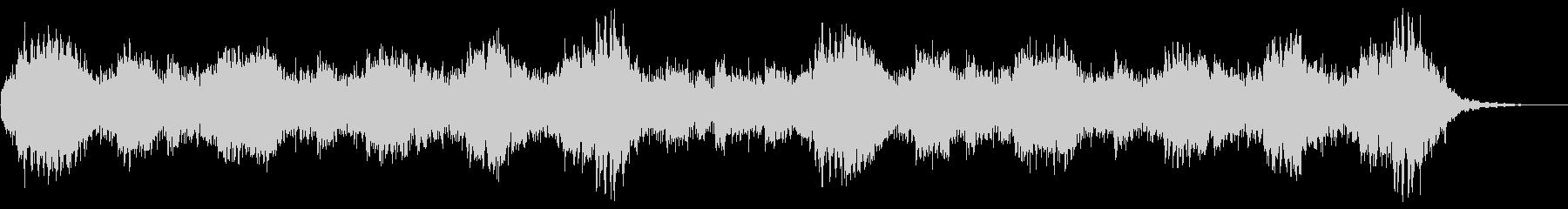 ホラーの演出 奇妙な背景 ハープ 1分程の未再生の波形