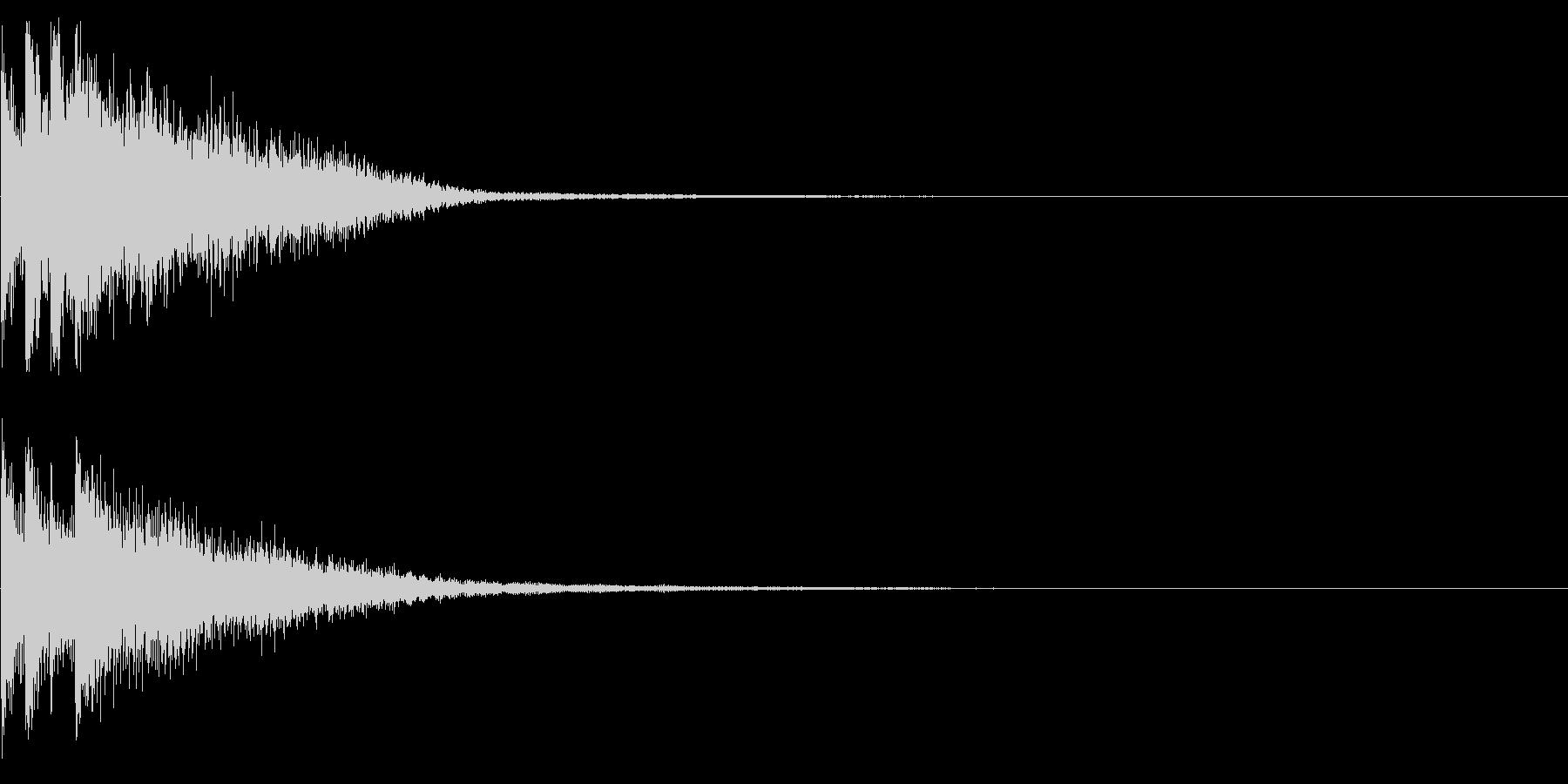 キラリーン(起動、決定、正解)の未再生の波形